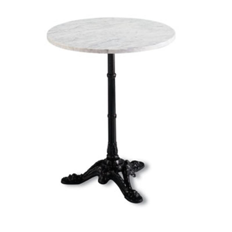 Mesa parisina redonda m rmol mobiliari contract - Pies de mesa de marmol ...