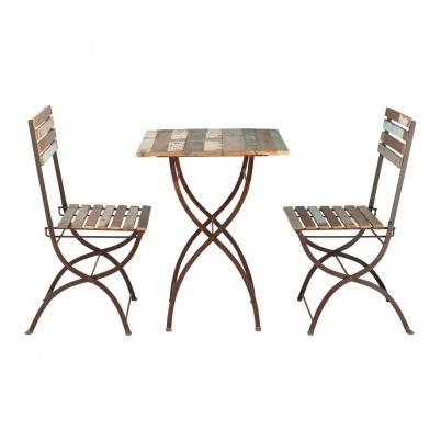 Conjunto mesa sillas terraza vintage mobiliari contract for Mesa de terraza con quitasol