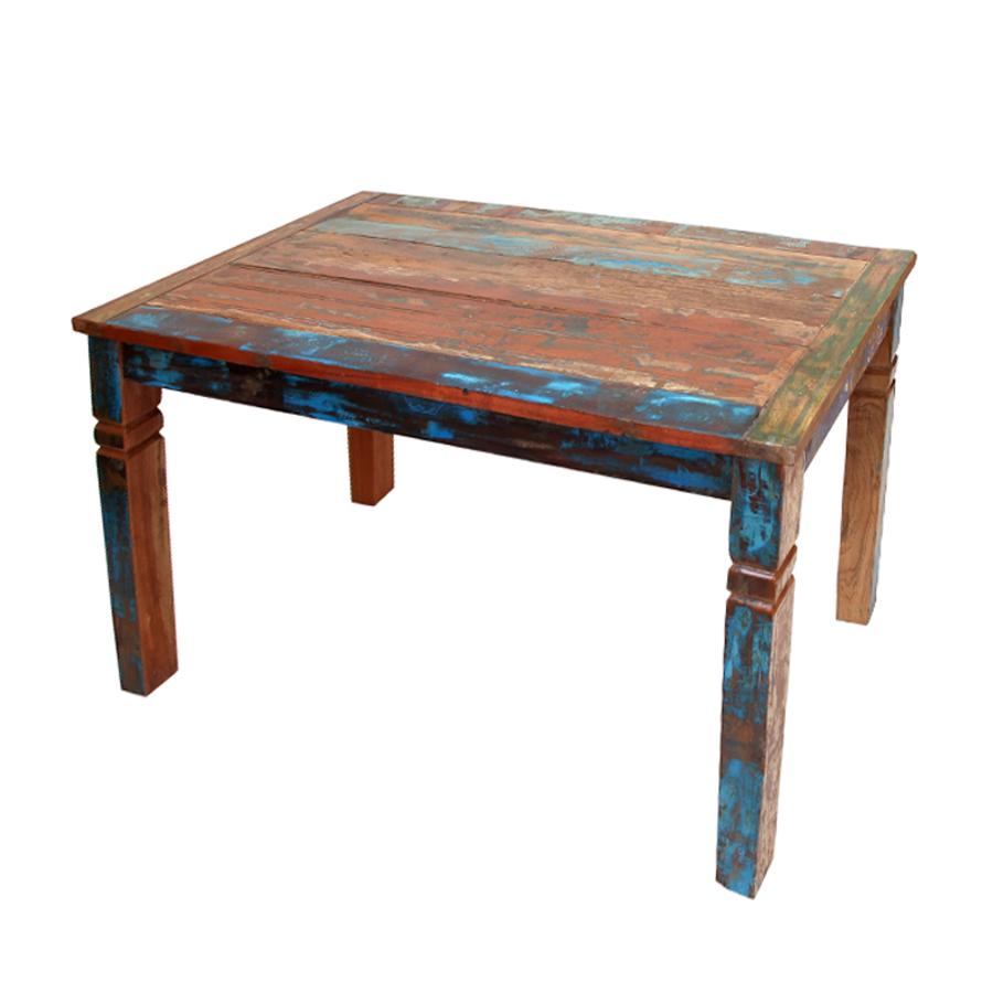 Mesa comedor arcobaleno madera mobiliari contract for Mesa vintage madera