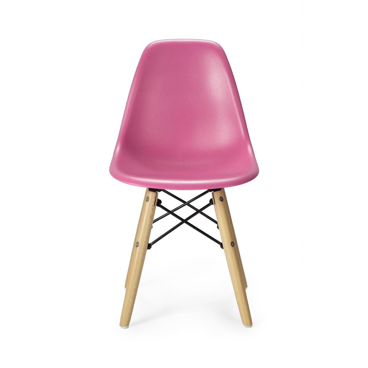 Silla ni os estilo eames rosa mobiliari contract for Medidas sillas ninos